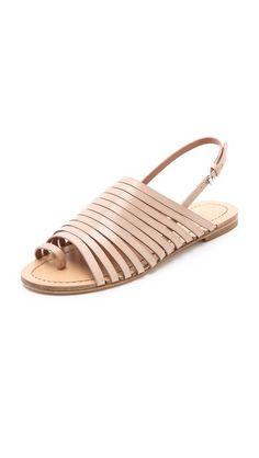 Summer Shoe Fling / Sigerson Morrison Flat Strappy Sandals ||