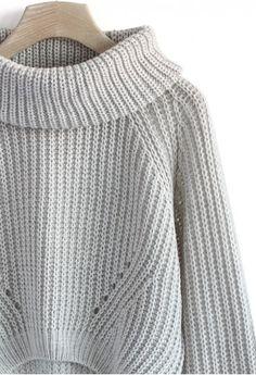 Turtleneck Sweater in Grey
