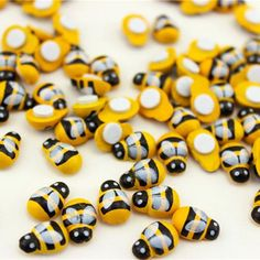 Miniature Yellow Bee Wooden Insects; Great for Landscaping and planting pots. 2 Sizes and colors