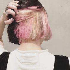 ボブ× ピンク