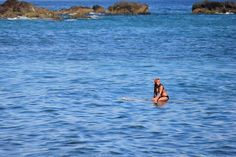 Malibu rules: Pretty girls kneepaddling longboards can get away with ANYTHING. Byron Bay Accommodation | puredrift.