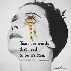 Tears are words that need to be written. Art Journal Pages, Art Journal Challenge, Art Journal Prompts, Doodle Art Journals, Art Journal Techniques, Journal Ideas, Drawings With Meaning, Art With Meaning, Easy Doodle Art