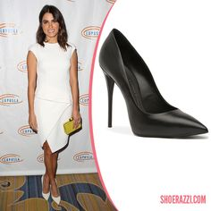 Nikki Reed in Giuseppe Zanotti Spring 2014 White Leather Pumps