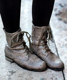 Combat Boots. Obsessed. Love pairing them with super feminine items