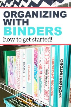 Organizing With Binders: The Best Way to Organize Important Paperwork - Organizing Moms How to organize your paperwork with binders. A great way to have everything easily accessible. Set up your own binder organization system today. Home File Organization, Organizing Paperwork, Clutter Organization, Household Organization, Organising, Bill Organization Binders, Organizing Tips, Organizing Paper Clutter, Project Life Organization