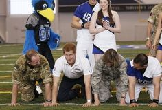 That time he joined a human pyramid. | 21 Most Swoon-Worthy Moments Of Prince Harry's Visit To America