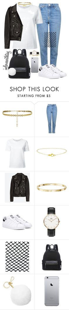 """86❤"" by inlovewithtay ❤ liked on Polyvore featuring Topshop, Lemaire, Jakke, adidas Originals, Daniel Wellington, ASOS, Lamoda and Michael Kors"