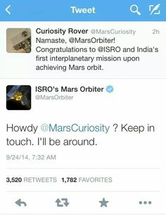 Now, that's a response! Kudos to ISRO and it's Social Media team!