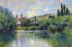 Vue de Vétheuil (C Monet - W 602),1880.