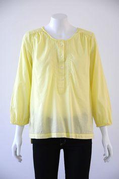 Trenery  Women s 100% Cotton 3/4 Sleeve Round Neck Top {Size S /10}