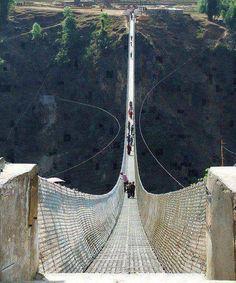 yikes  Kusma-gyadi Bridge, Nepal