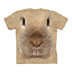 Animal T-Shirts - Kids Big Face Bunny T Shirt