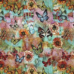 Gobelin Butterfly Fantasy - Baumwolle - Polyester - Polyacryl - Farbmix