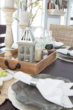 Coastal Farmhouse Table Setting