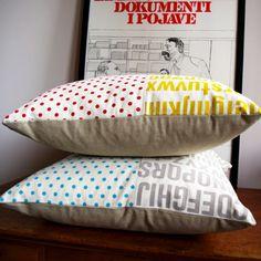 Polka dot cushions