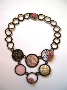 Betty Pepper textile necklace - now that's cute.