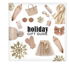 """""""Holiday gift guide"""" by breakfastatlanas on Polyvore featuring Uniqlo, Burberry, Kate Spade, Joop!, House of Holland, Essie, Little Wardrobe London, Steve Madden, Gizelle Renee and Monsoon"""