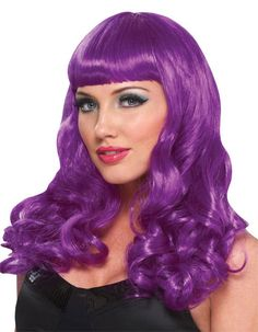 Purple Party Girl Costume Wigs