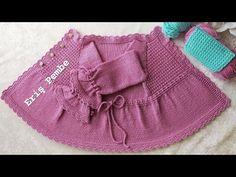 Ayda Hırka Kabartmalı Mozaikler Modeli ile 1 ve 1,5 yaş kız çocuk hırkası - YouTube Crochet Baby Jacket, Knitted Baby Clothes, Baby Knitting, Boho Shorts, Youtube, Jackets, Women, Fashion, Tejidos