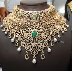 Jewellery Designs: Kirtilals Large Diamond Necklace