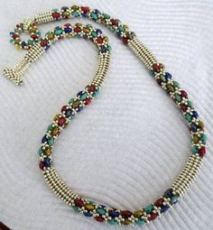 Seed Bead Necklace, Rope Necklace, Seed Bead Jewelry, Bead Jewellery, Jewelry Necklaces, Necklace Set, Beaded Jewelry Designs, Necklace Designs, Handmade Jewelry