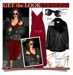 """Get The Look- Rihanna"" by kusja ❤ liked on Polyvore featuring Jean-Paul Gaultier, Acne Studios, Sunday Somewhere, Reformation, women's clothing, women, female, woman, misses and juniors"