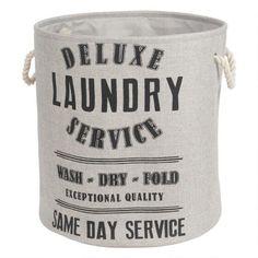 Deluxe Laundry Hamper Round