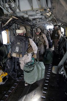 Marines debark a CH-53E by United States Marine Corps Official Page, via Flickr