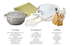The Everygirl's Wedding Registry Guide // Cooking