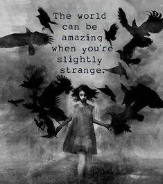 Sticker Strange Dark Goth Punk Weird Alone Anxiety Black Crows Birds Soul Goth Quotes, Dark Quotes, Dark Fantasy Art, Dark Art, Gothic Wallpaper, Crow Bird, Dark Love, Crows Ravens, Dark Thoughts