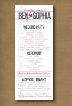 wedding program printable