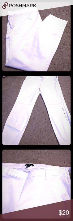White Cotton Pants Never worn. Bought them and did not think they were my style since they are a bit see through (just need to wear a thong). Perfect for summer! H&M Pants Skinny