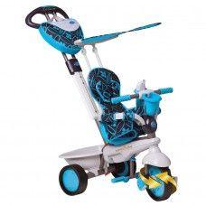ream serisi ile 4'ü 1 arada eşsiz üç tekerlekli bisiklet tasarımı Smart Trike 10 aydan itibaren kullanılabilir ve çocuğunuzla birlikte büyür.