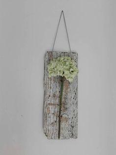 Inspirational Fiore di Ortensia decorazione da parete driftwood