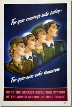 1940s women military recruiting poster