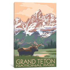 iCanvas 'U.S. National Park Service Series: Grand Teton National Park