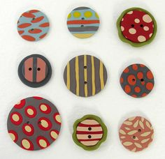 vintage buttons | also wanted to show you the buttons that the little vintage cards ...