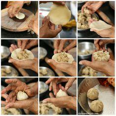 Shaping a fried modak