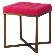 Threshold™ Tufted Ottoman - Pink and Gold