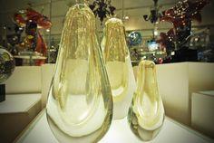Murano Glass Vases on the shelf