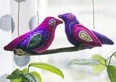Ompele lintumobile. Sew a bird mobile. Unelmien Talo&Koti Kuva Satu Nyström