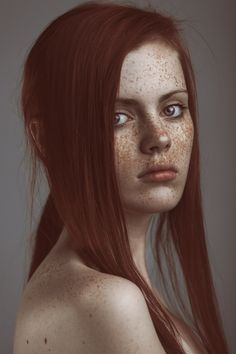 So very pretty. Love the red hair and freckles