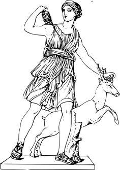Resultado de imagen para artemisa diosa dibujo