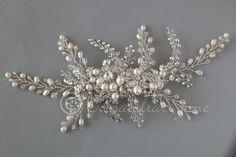 Peine grande de la boda de Marfil perla y por CassandraLynne