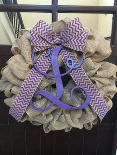 Traditional Burlap Wreath by SouthernCustoms46 on Etsy  Only $45
