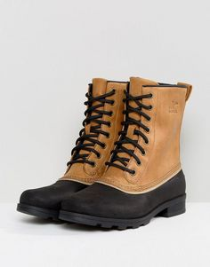 Sorel Emelie 1964 Elk Beige Waterproof Leather Boots - Beige