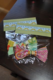 Little Man Party Favors with no sew bowtie tutorial