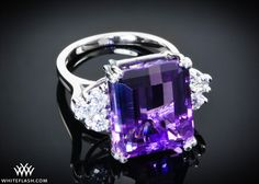 Amethyst Engagement Ring - I will take this over a diamond any day!!!