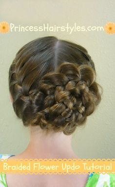 braided rose hair tutorial - Jilly for baptism