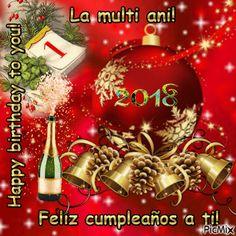 LA MULTI ANI!2018A Anul Nou, Christmas Bulbs, Happy Birthday, Holiday Decor, Home Decor, Happy, Happy Aniversary, Homemade Home Decor, Happy B Day